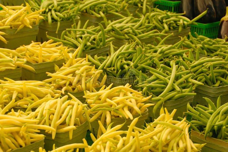 Feijões verdes e amarelos imagem de stock royalty free