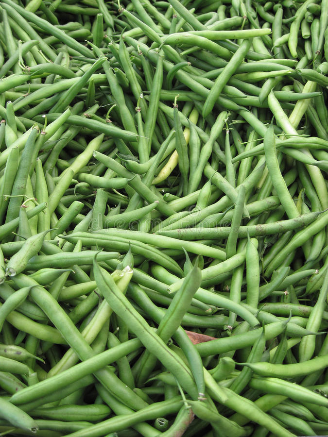 Feijões verdes para a venda imagens de stock