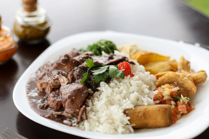 Feijoada,巴西烹调传统 库存照片