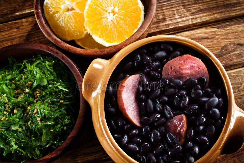 Feijoada,巴西传统膳食。 免版税库存图片