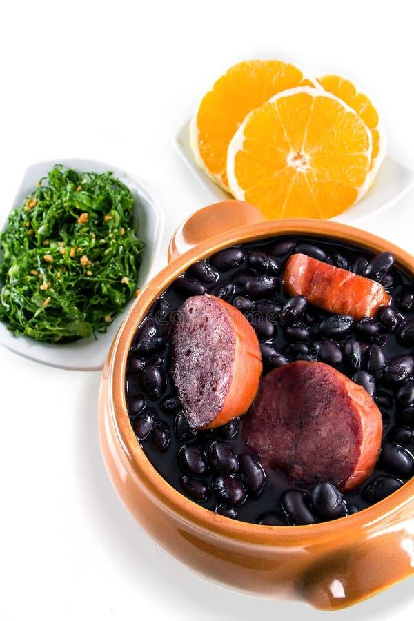 Feijoada, brasilianische traditionelle Mahlzeit. stockfotos