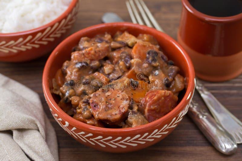 Feijoada português típico do prato fotos de stock royalty free