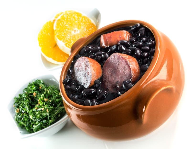 Feijoada, refeição tradicional brasileira. imagens de stock royalty free