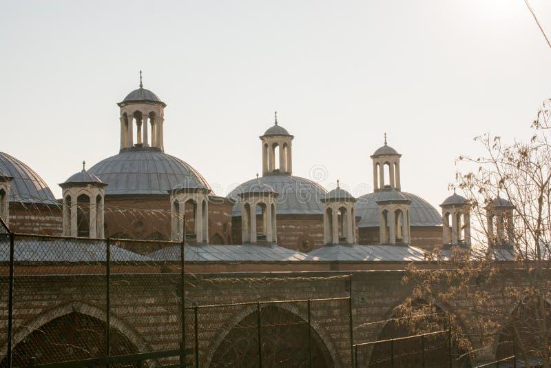 Feines Beispiel der t?rkischen Turmarchitektur der Osmane stockbilder