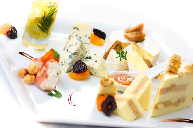 Feinschmecker Cheeseplate stockfoto