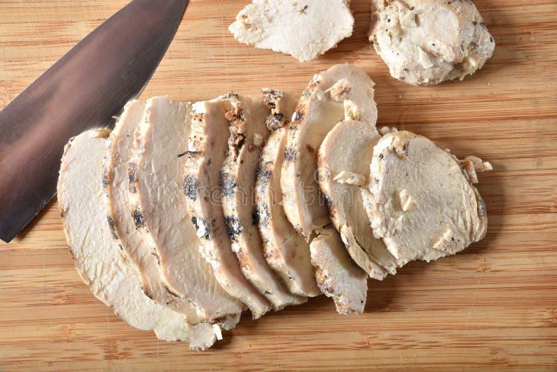 Feinschmecker geschnittene Hühnerbrust stockfoto