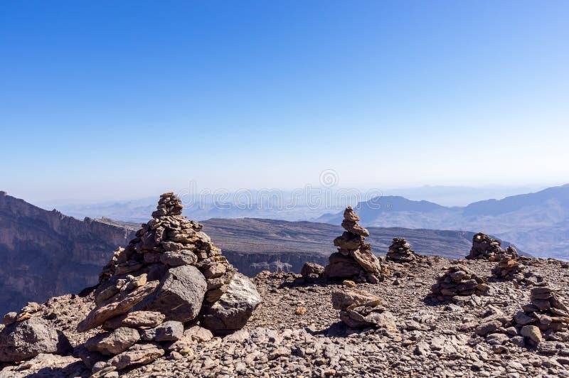 Feintes de Jebel - Sultanat d'Oman photos libres de droits