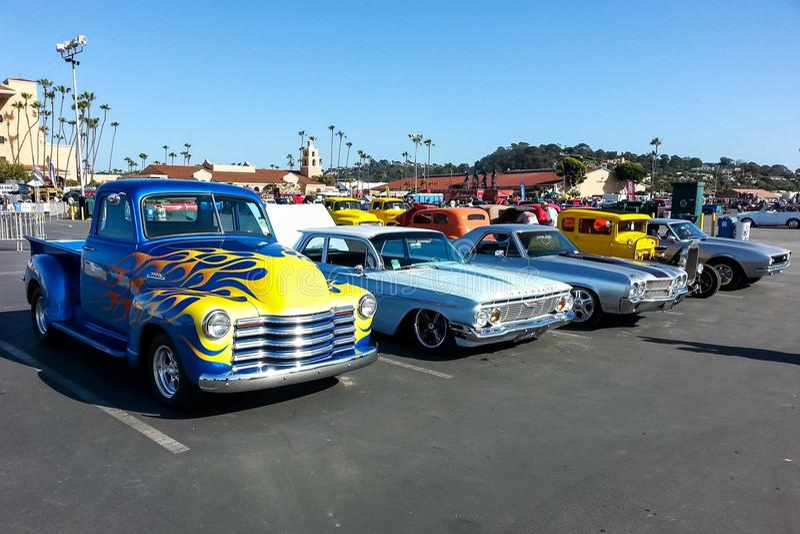 Feira automóvel 2015 de Goodguys em Del Mar, Califórnia fotografia de stock royalty free