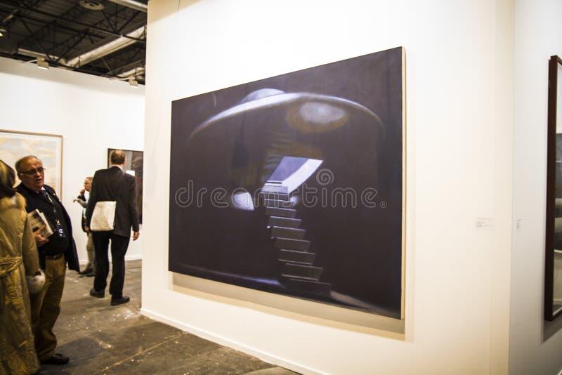 A feira da arte contemporânea de ARCOmadrid começa sua 3á edição. Madri imagem de stock royalty free