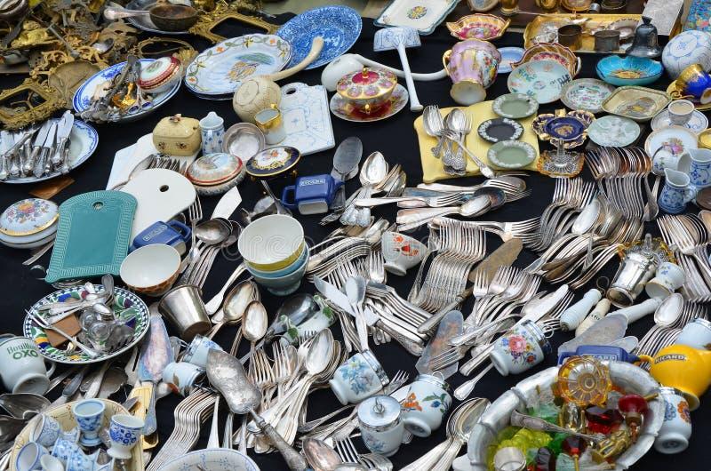 Feira da ladra em Bruxelas foto de stock