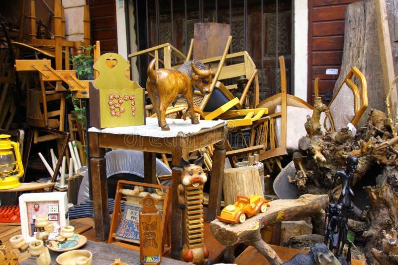 Feira da ladra em Instanbul, Cucurcuma imagem de stock