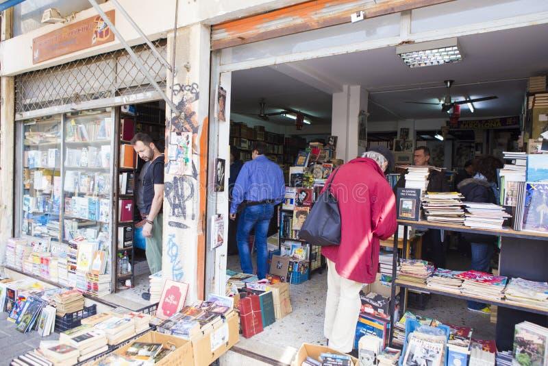 Feira da ladra - livrarias ambulante imagem de stock