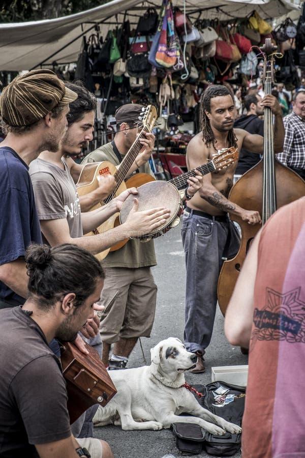 Feira da Ladra w Lisbon Portugalia zdjęcie stock