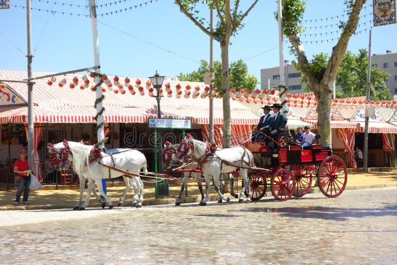 A feira de abril de Sevilha imagens de stock royalty free