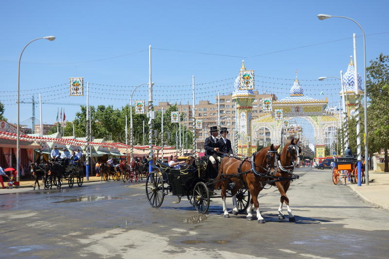 A feira de abril de Sevilha foto de stock