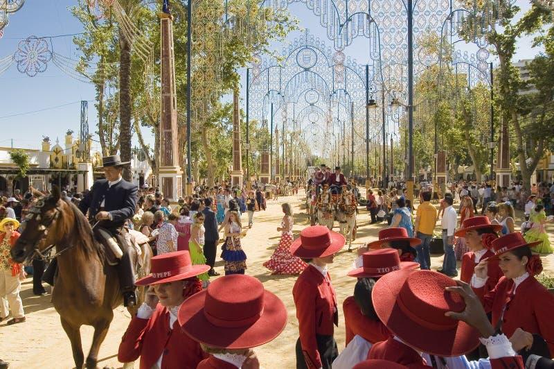 Feira de cavalo em Jerez, cadiz Spain imagem de stock