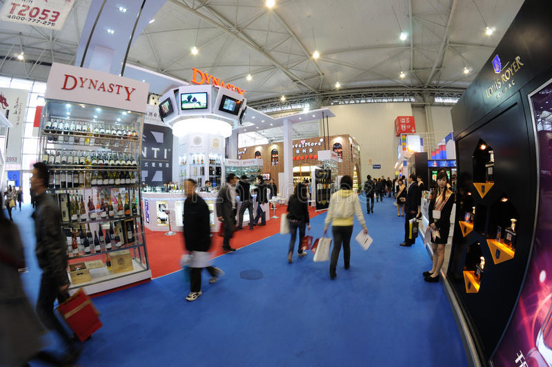 Feira de comércio 2012 de productos do açúcar e do alcoólico fotografia de stock royalty free