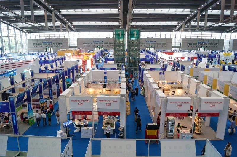 Feira de comércio da indústria do chinês ultramarino de China (Shenzhen) imagens de stock