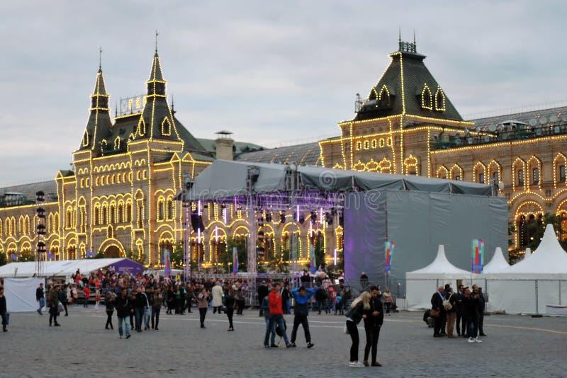 Feira de livro no quadrado vermelho em Moscou fotografia de stock royalty free