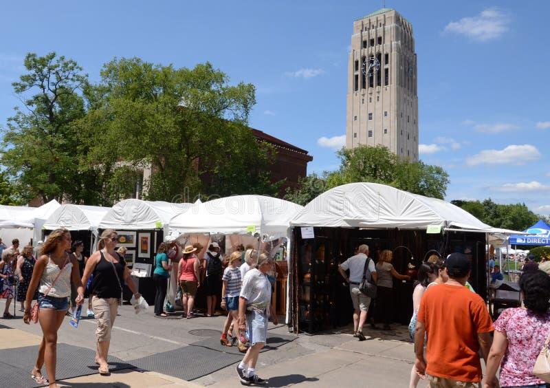 Feira e terreno da arte de Ann Arbor imagens de stock