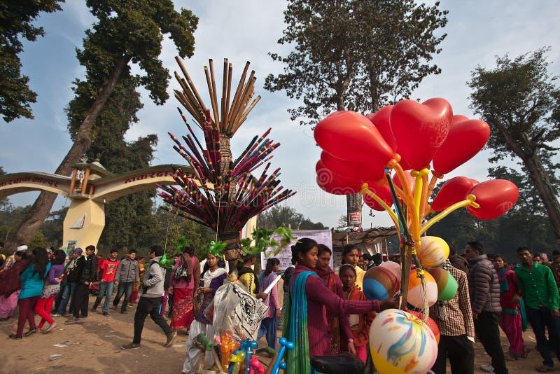 Feira local em Bardia, Thakurdwara, Nepal imagem de stock