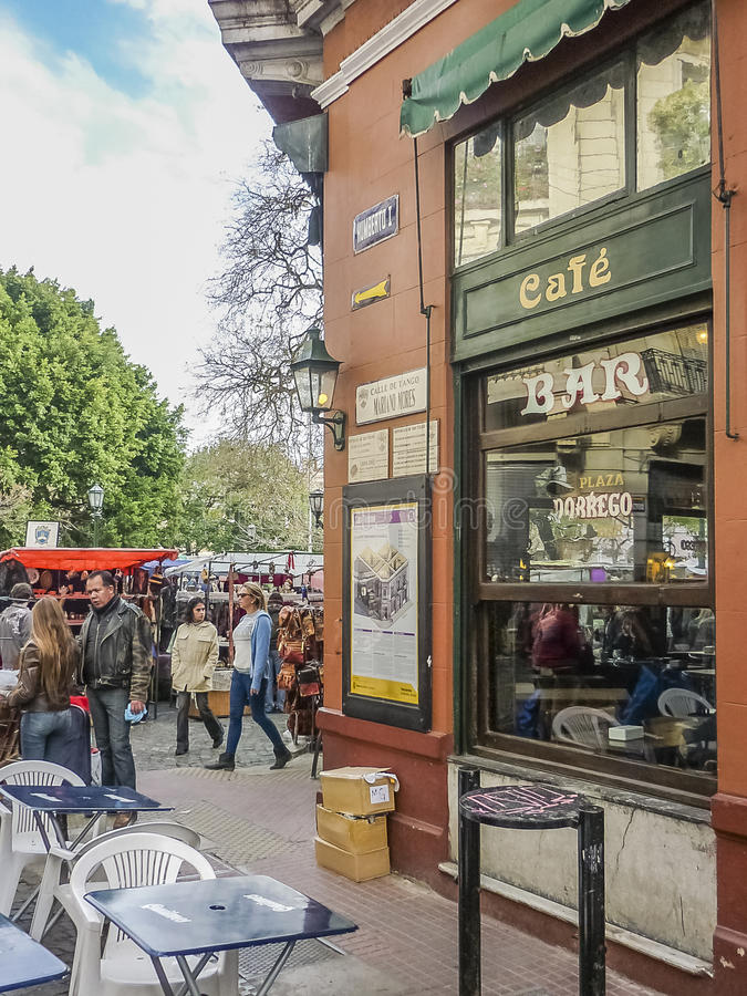 Feira tradicional em San Telmo Buenos Aires fotos de stock royalty free