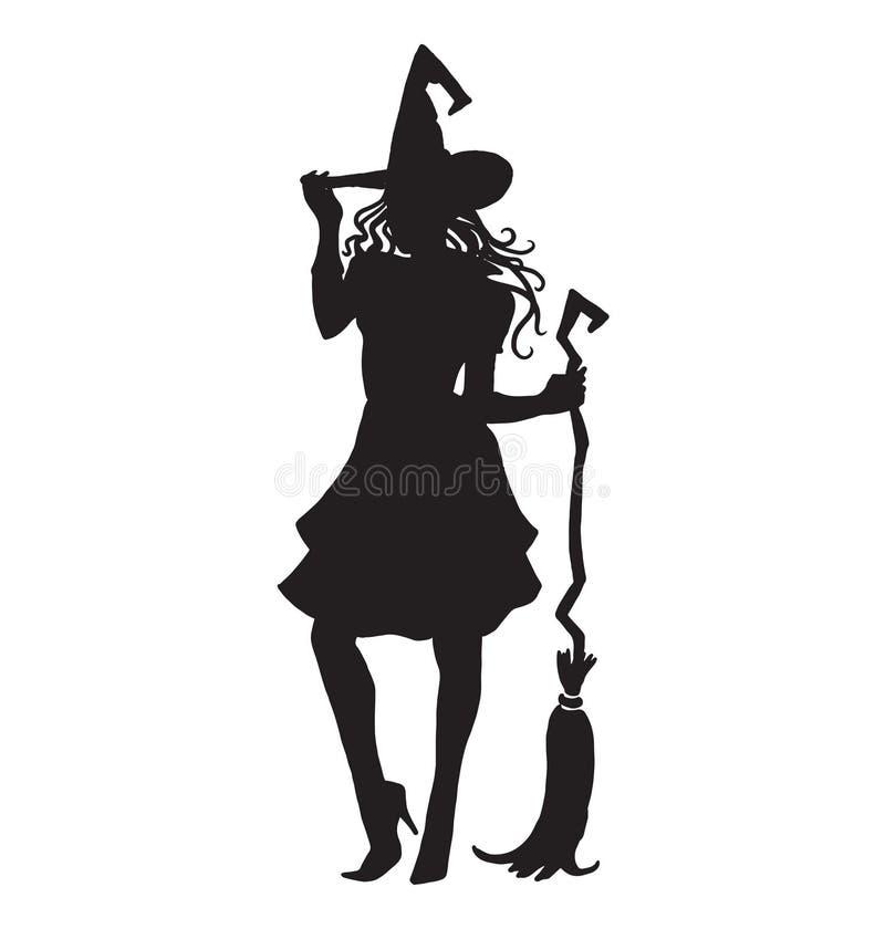 Feiticeiro da festa natalícia de Dia das Bruxas, mágico, feiticeiro ilustração stock