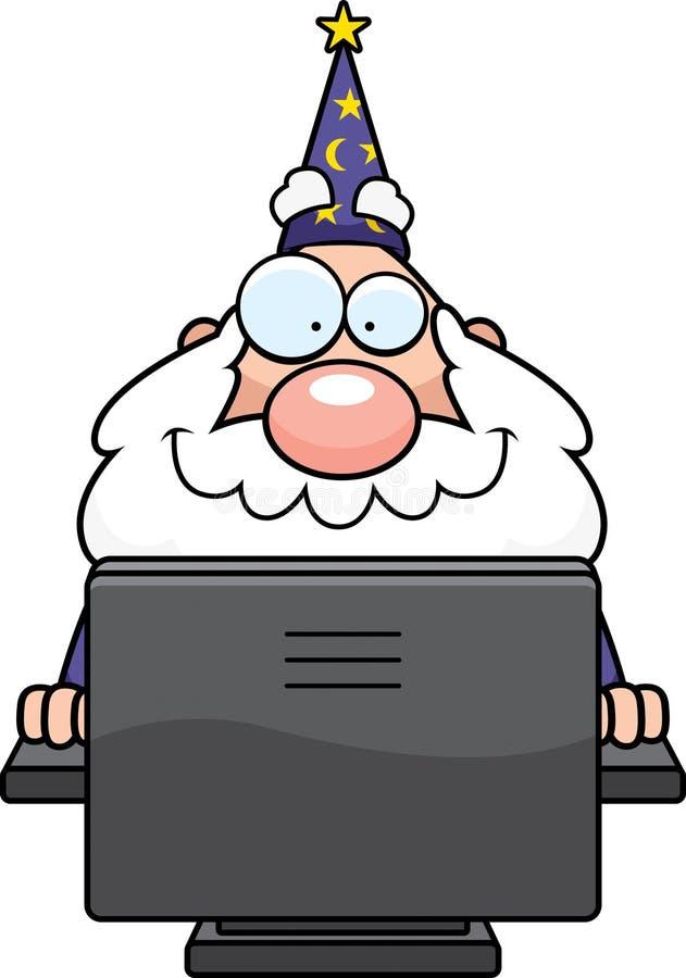 Feiticeiro de computador ilustração do vetor