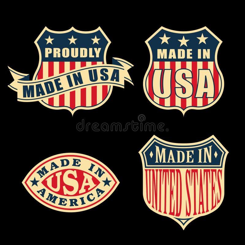 Feito em América ilustração stock