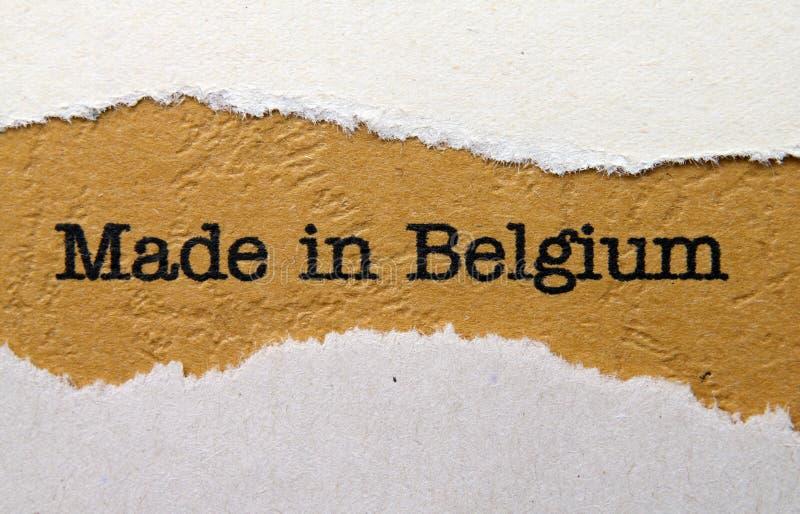 Feito em Bélgica foto de stock