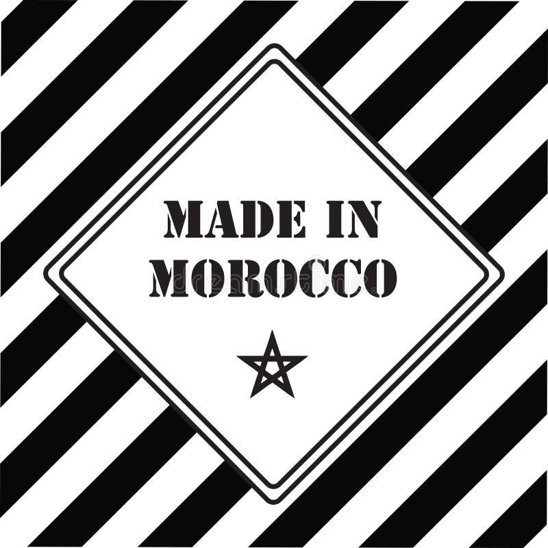 Feito em Marrocos ilustração royalty free