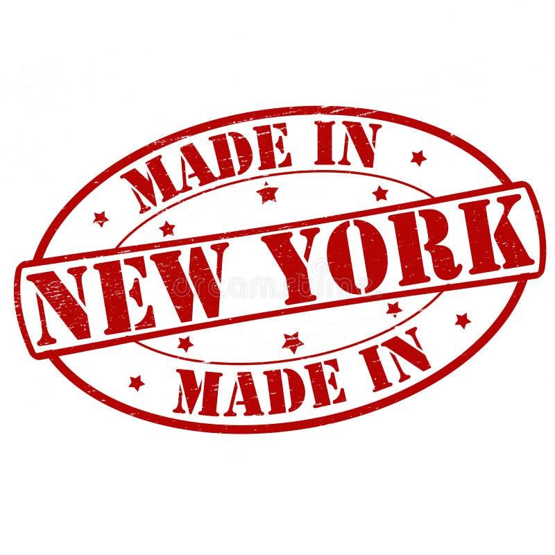 Feito em New York ilustração do vetor