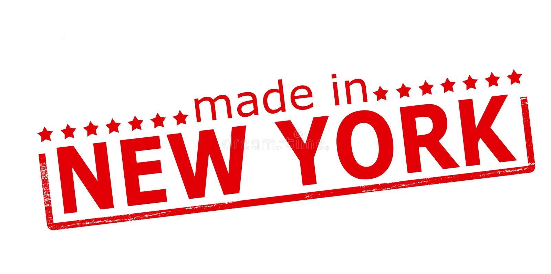 Feito em New York ilustração stock