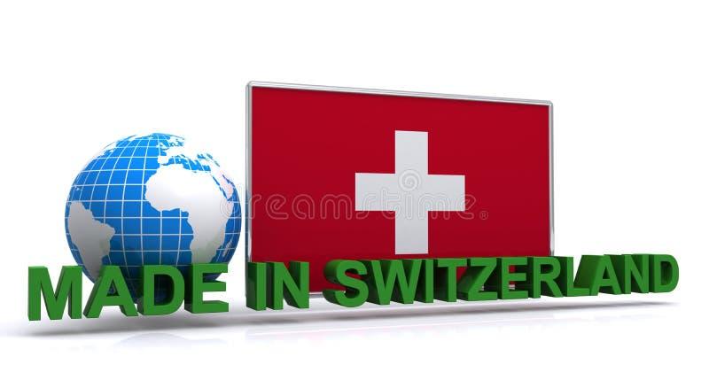 Feito em switzerland ilustração stock