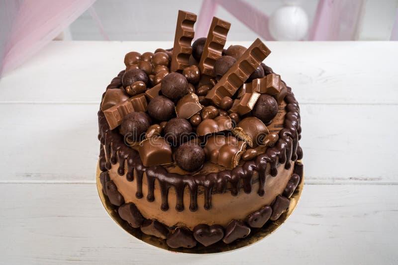 Favoritos Feito A Mão Delicioso Do Bolo De Chocolate Decorado Com Doces Do  BJ54