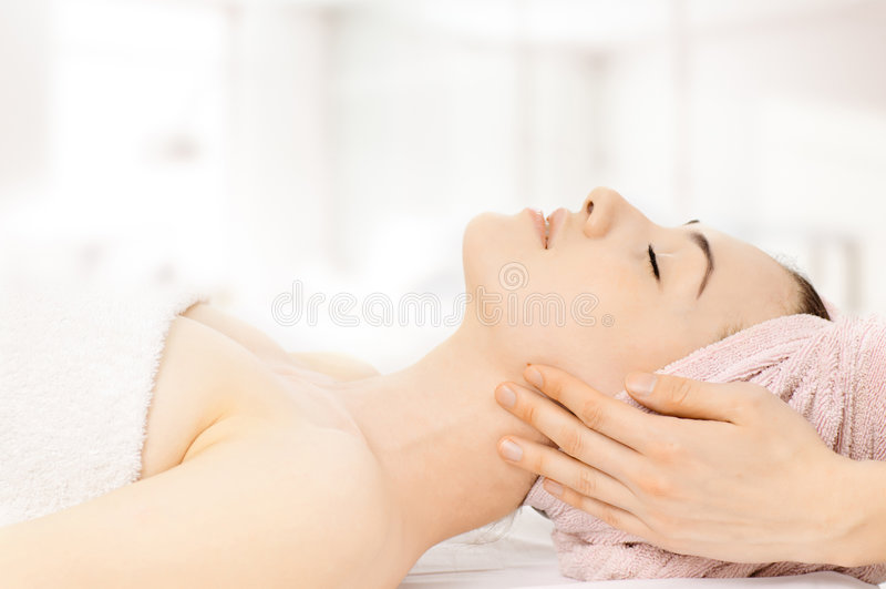 Feito massagens imagens de stock