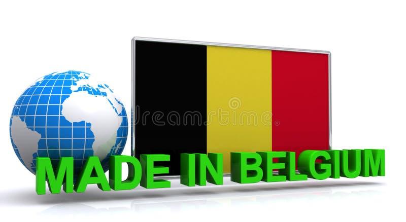 Feito na ilustração de Bélgica ilustração do vetor