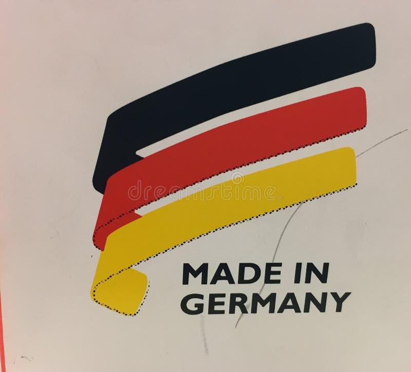 Feito na marca de mercadoria de Alemanha imagem de stock royalty free