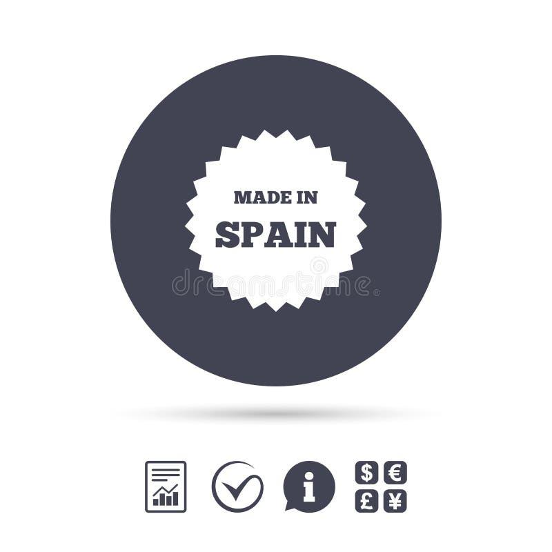 Feito no ícone da Espanha Símbolo da produção da exportação ilustração royalty free