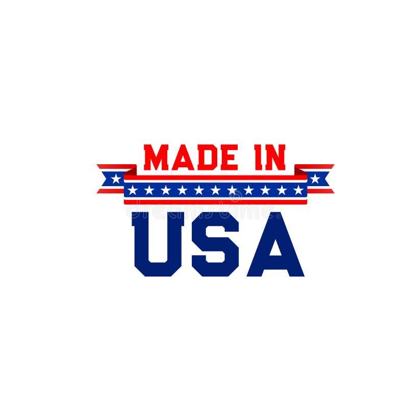 Feito no ícone do vetor dos EUA ilustração stock