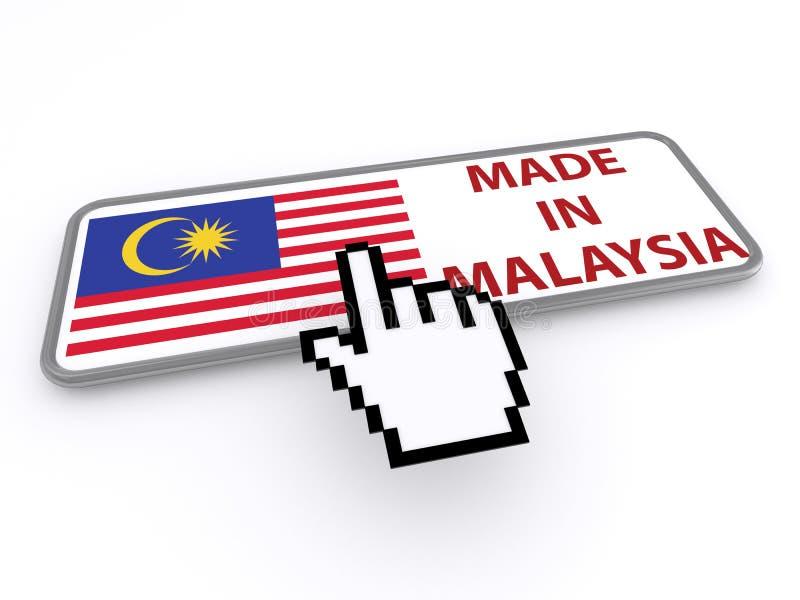 Feito no botão de Malásia ilustração royalty free