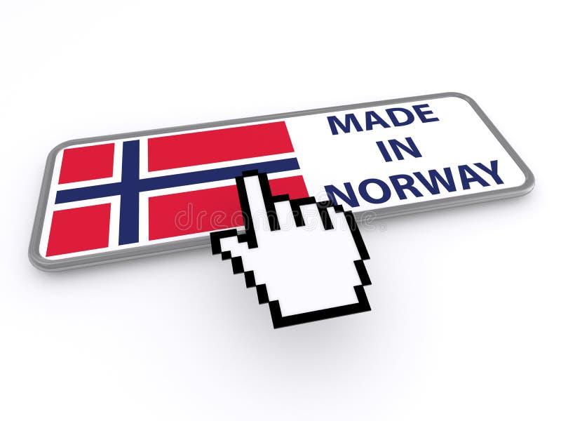 Feito no botão de Noruega ilustração do vetor