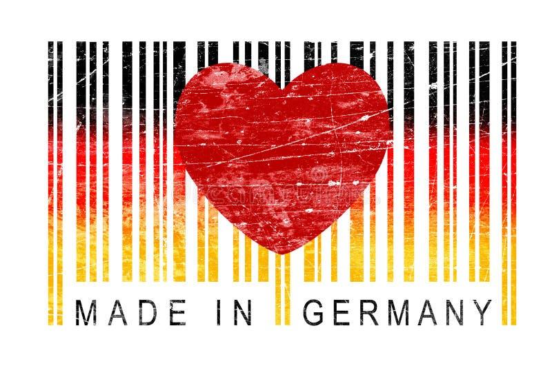 Feito no código de Alemanha EAN com um coração fotografia de stock royalty free