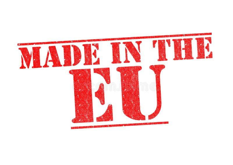 FEITO no carimbo de borracha da UE imagem de stock royalty free
