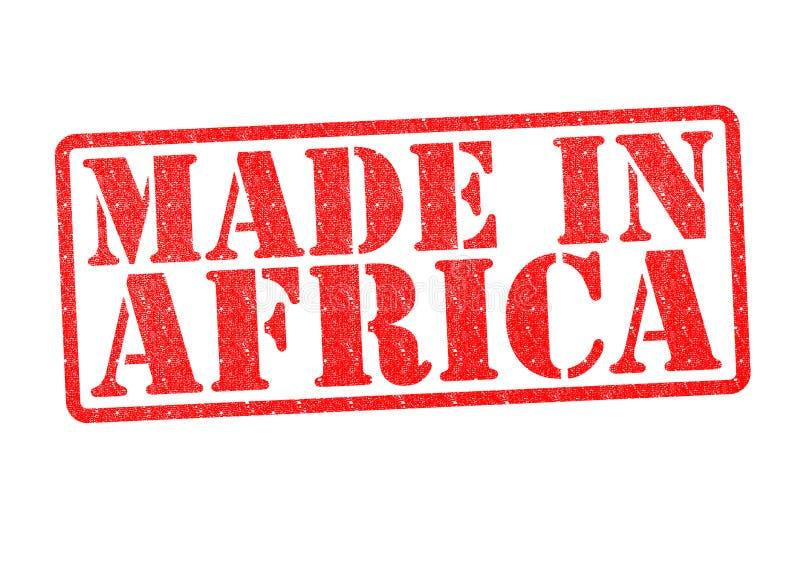 Feito no carimbo de borracha de África fotos de stock royalty free