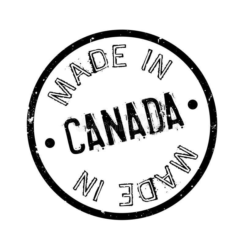 Feito no carimbo de borracha de Canadá ilustração stock