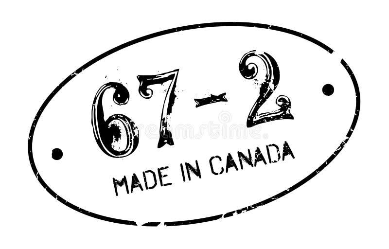 Feito no carimbo de borracha de Canadá ilustração royalty free