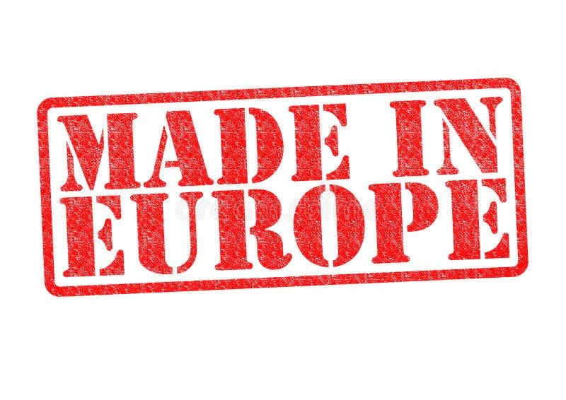 Feito no carimbo de borracha de Europa fotos de stock royalty free