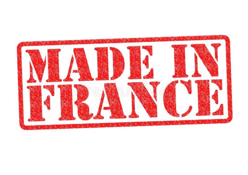 Feito no carimbo de borracha de França imagens de stock