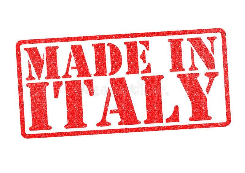Feito no carimbo de borracha de Itália foto de stock royalty free